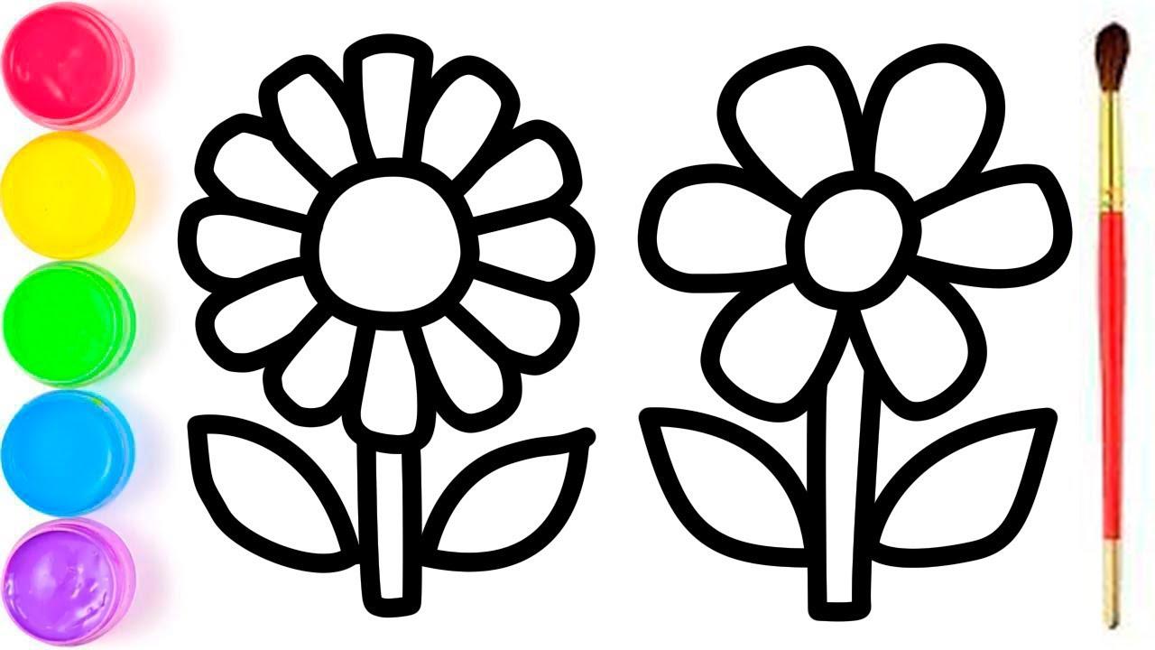 Cara Menggambar Dan Mewarnai Pelangi Bunga Untuk Anak Anak Youtube