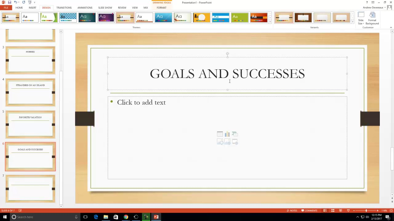 about me powerpoint