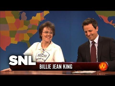 Weekend Update: Billie Jean King on the Sochi Olympics - SNL