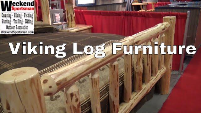 #VikLogFurniture Rustic Cabin Wood Furniture | Weekend Sportsman | Viking  Log Furniture   YouTube