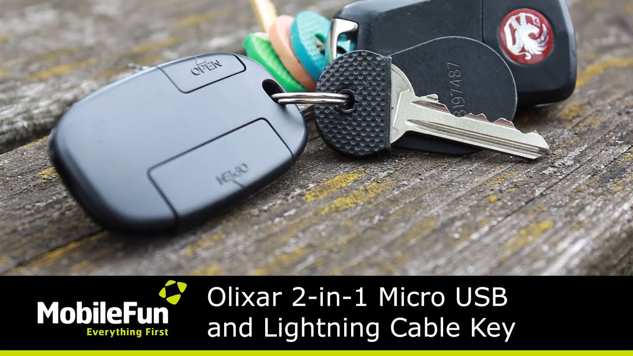 iPhone USB 2.0 Charge /& Sync Cable For iPod /& iPad iGo Keychain Key ring