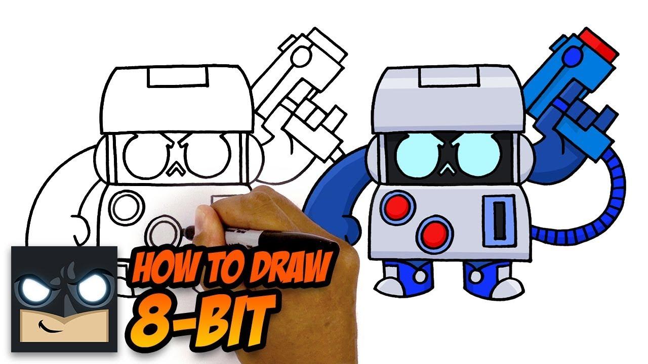 How To Draw Brawl Stars 8 Bit Youtube