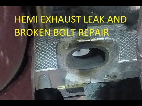 Part 1 Diagnose And Repair Broken Exhaust Stud On Dodge