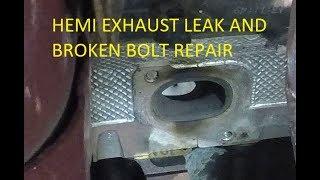 Part 1: Diagnose and repair broken exhaust stud on Dodge, RAM, Chrysler 5.7L Hemi