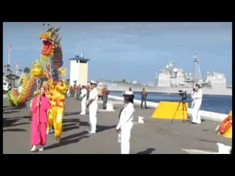 Chinese Warships Dock In Florida: Dragon Dance Held As Ships Entered Harbor