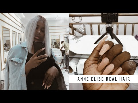 ANNE ELISE REAL HAIR | Nail salon in Nigeria (vlog) || LAGOS, NIGERIA