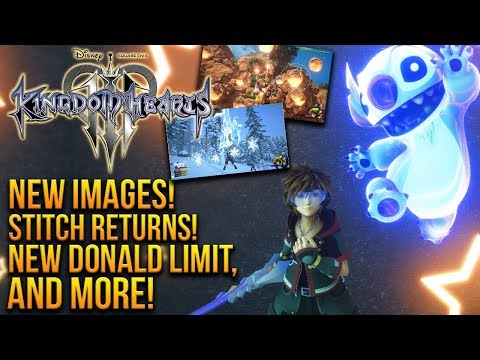STITCH RETURNS! - NEW Kingdom Hearts 3 Images - Disney Castle, New Donald Limit and More!