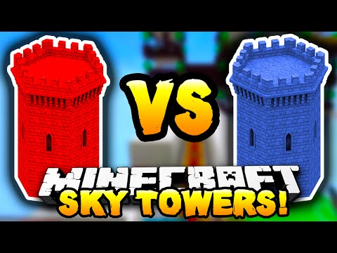 Minecraft - RED VS BLUE SKY TOWERS! #1 - w/ Preston, Lachlan, Choco & Pete