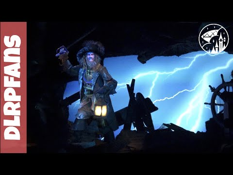 Pirates of the Caribbean Onride with Jack Sparrow and Barbossa at Disneyland Paris