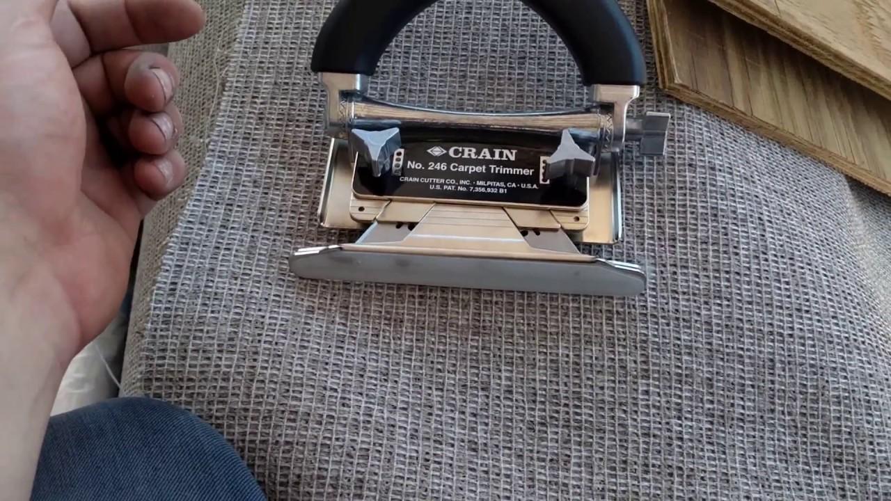 Crain Carpet Trimmer Open Box