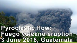 Fuego volcano eruption on 3 June 2018
