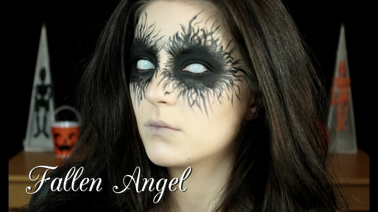 Halloween Tutorial: Fallen Angel - YouTube