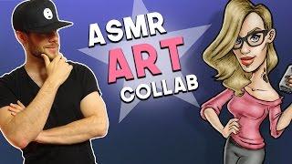 ASMR ART feat. Karuna Satori ASMR | Whispering & Drawing Sounds