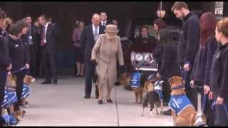 The Queen At Battersea Dogs Home