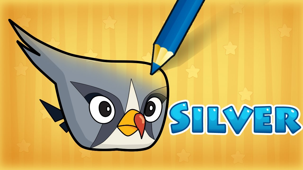 How To Draw Silver From Angry Birds