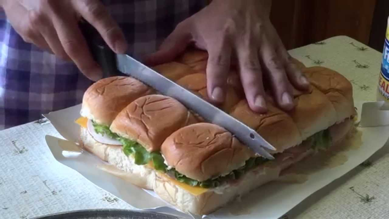 Simple Hawaiian Roll Sandwich Tray