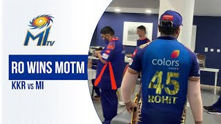 Rohit with the KKR vs MI Man of the Match | रोहित जीते मैन ऑफ द मैच | Dream11 IPL 2020