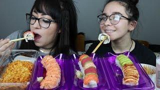 SUSHI AND RAMEN MUKBANG | EATING SHOW