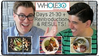 Whole 30: Days 21 to 30 + Reintroduction & RESULTS Vlog!