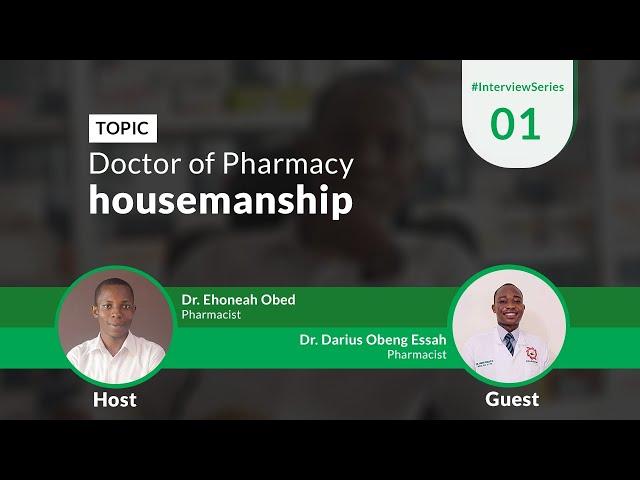 Doctor Of Pharmacy Housemanship | Time With A Hospital Pharmacist
