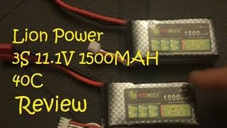 REVIEW: Lion Power 40c 3S 11.1v 1500mAh LiPo from Gearbest