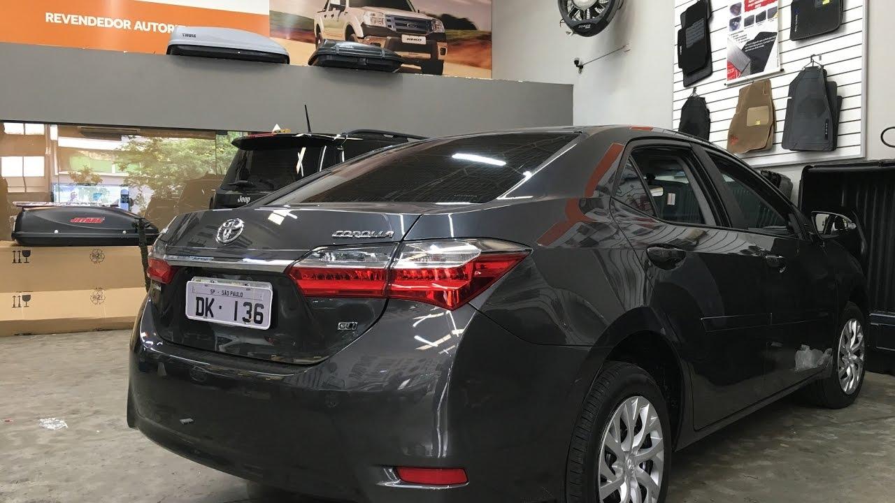 Toyota Corolla 2018 - Friso Lateral modelo Original - Friso - Dk136 Acessórios - YouTube