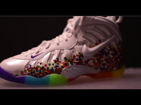 11a53186560 Nike Foamposite Pro Fruity Pebble unboxing by Shiekh - YouTube