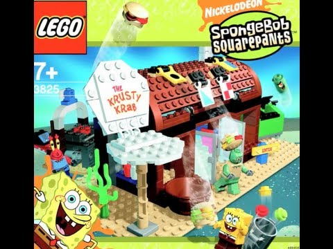 How To Build Lego Spongebob Squarepants 3825 Krusty Krab