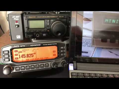 Kenwood TM-D710 set-up for APRS Space Station ISS