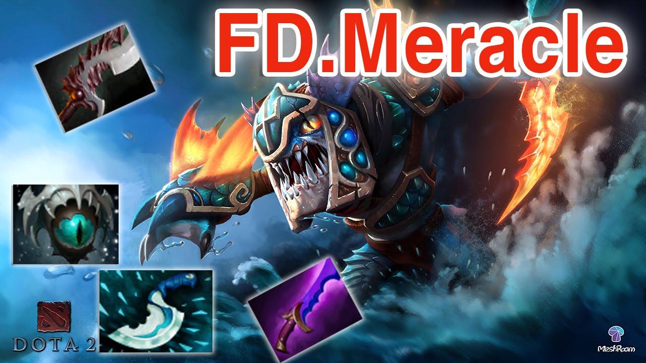 fd meracle dota 2 slark vol 4 22 kills 1 death pub match