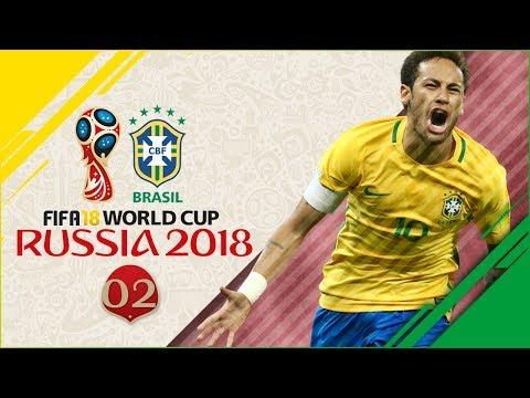 FIFA 18 Russia World Cup wBrazil Ep2  R16 vs ENGLAND!!