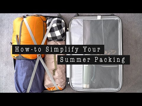 Minimal Packing for Camping - How to Pack Light | ANN LE