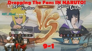 DROPPING THE FANS IN NARUTO STORM 4 LIVE, MARK WENT 9-1 (BEST NARUTO PLAYER EVER?) RDC