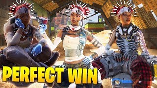 Calculating the PERFECT Victory... - 200 IQ Solo Wins - Apex Legends