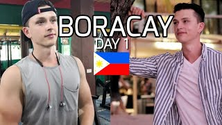 FIRST DAY in NEW BORACAY, Philippines - Gym,D'mall,Sunset