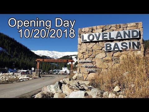 2018-2019 Opening Day! Loveland Ski Area, Colorado 10/20/2018