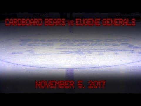 Game 06 - Cardboard Bears vs Eugene Generals