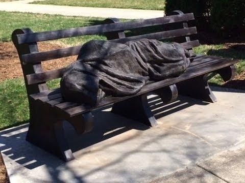 """Jesus the Homeless"" Statue Scares Wealthy Neighborhood"