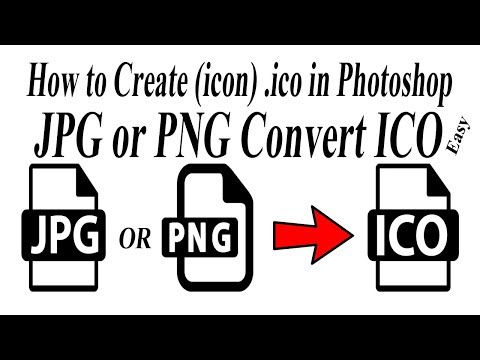 How to convert jpg or png to .ico (icon) file | ico size in Photoshop | how save ico file