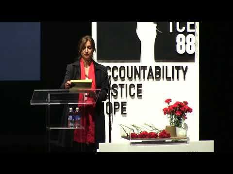 Roya Hakakian's lecture in Persian on Massacre 88 - Accountability, Justice, Hope