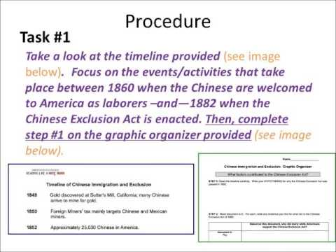 Why did Americans pass the Chinese Exclusion Act of 1882 dbq instructions