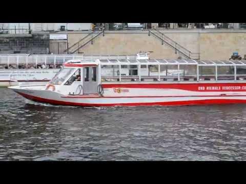 Ships on the river Spree in Berlin