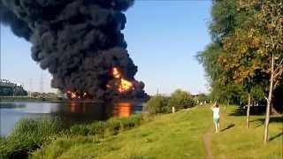 Москва река горит. Марьино - Братеево