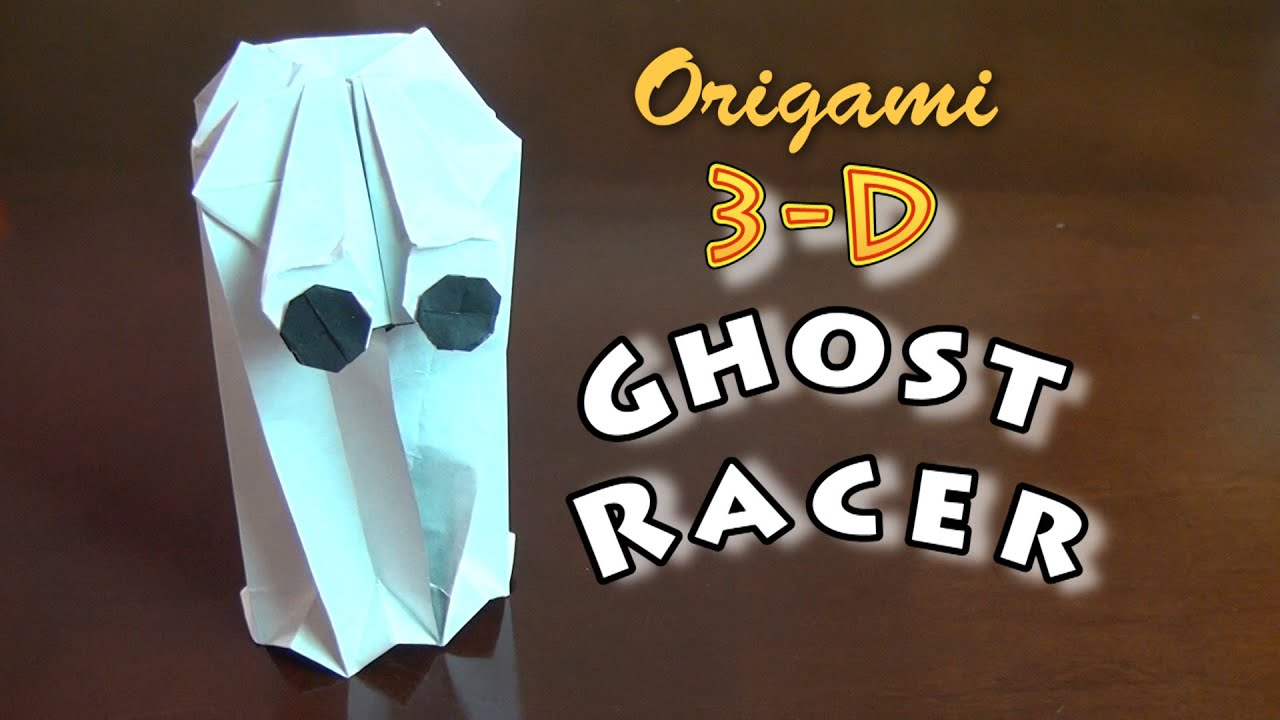 Origami 3 d ghost racer youtube origami 3 d ghost racer jeuxipadfo Choice Image