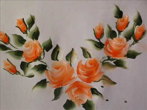 Rose Buds Painting With Fevicryl Acrylic Colours Tutorial