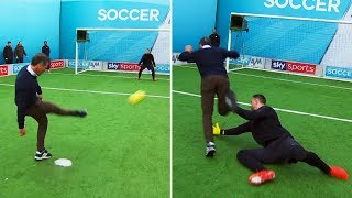Zola almost gets taken taken out by the goalie! | Gianfranco Zola & Luke Campbell | Soccer AM Pro AM