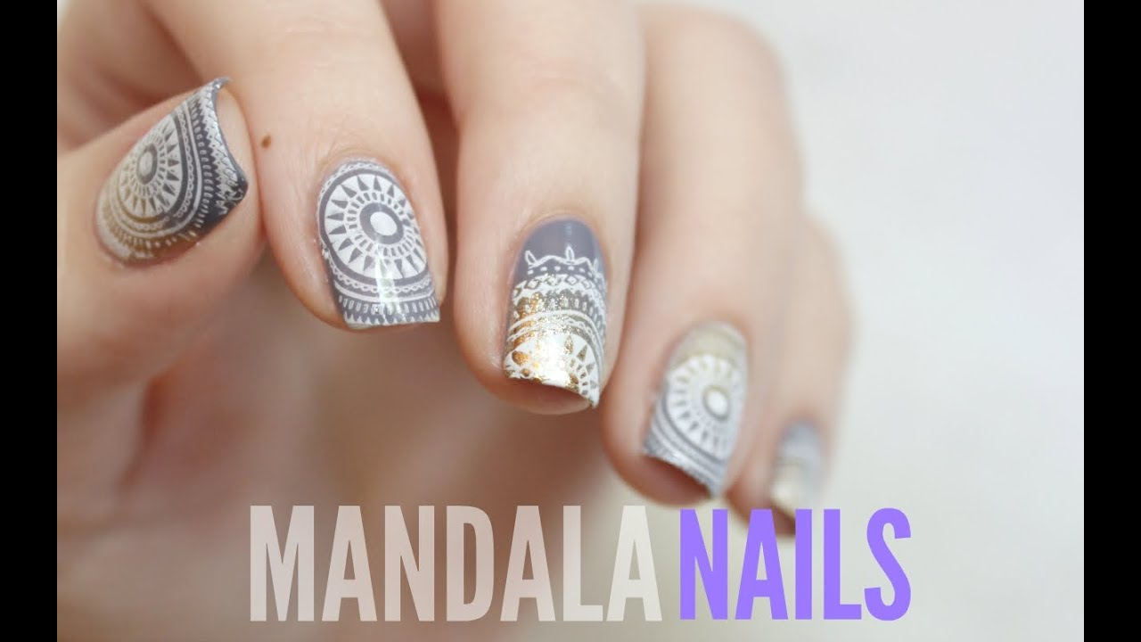Mandala Nail Stamping Moyou London Youtube