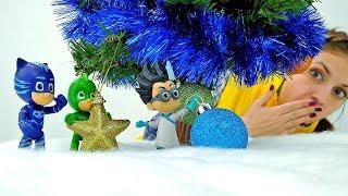 Герои в Масках ищут Новогоднюю Ёлку. Видео с игрушками.