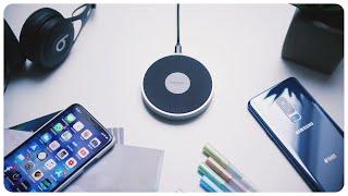 Fast Wireless Charger | Spigen Essential Premium F306W | iPhone X & Galaxy S9 im Test | deutsch