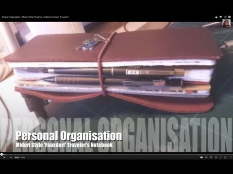 Studio Organisation | Midori Traveler's Notebook Style Syste